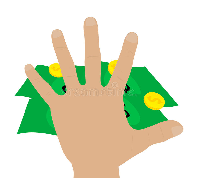 Free Illustration Of A Hand Grabbing Money Stock Image - 13439371