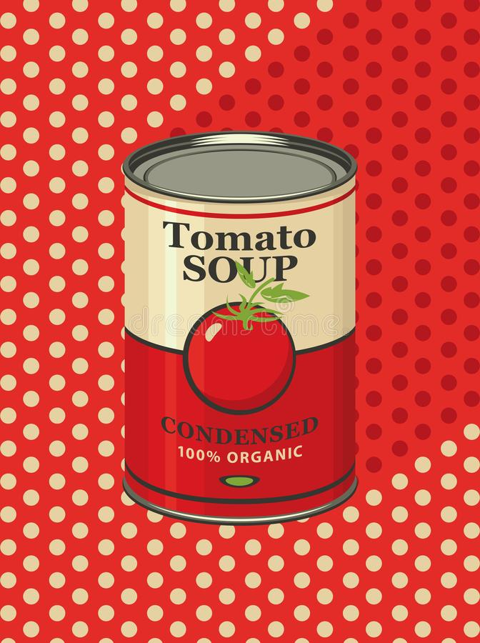 Free Illustration Of A Tin Can With Label Tomato Soup Stock Photos - 131644113