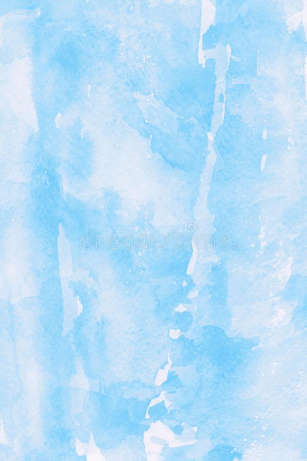 Free Illustration Of A Watercolor Background With A Light Blue Whitish Abstract Texture Of A Natural Image For Wallpaper Royalty Free Stock Images - 165181559