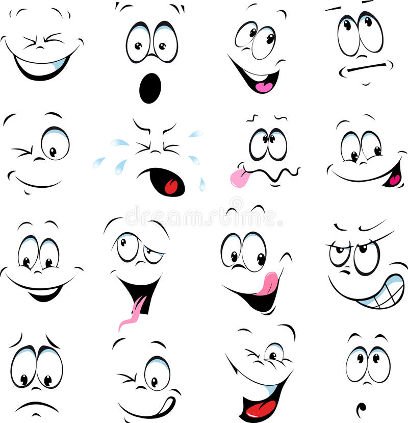 Free Illustration Of Cartoon Faces Royalty Free Stock Photo - 38733835