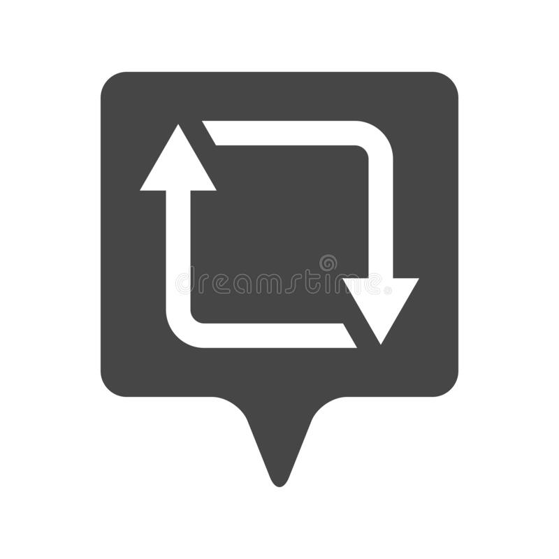 Free Illustration Of Flat Linear Repost, Retweet Or Refresh Social Media Icon Royalty Free Stock Image - 175633816