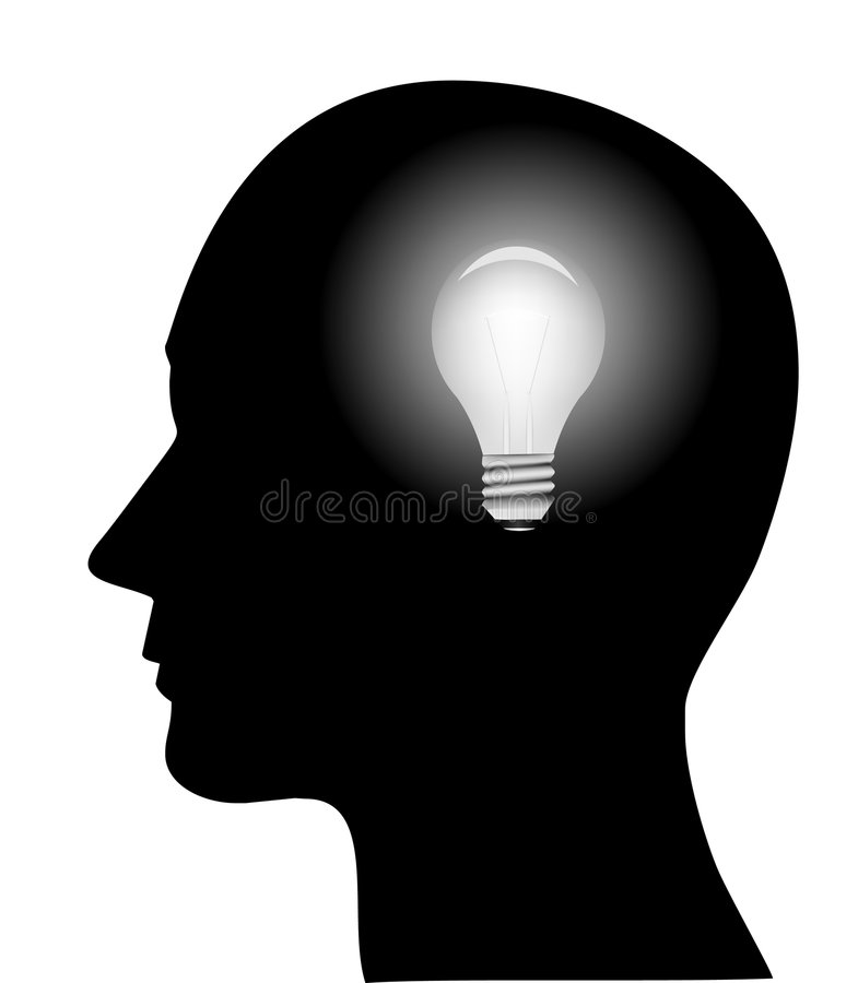 Free Illustration Of Head With Bulb Stock Photos - 9282593
