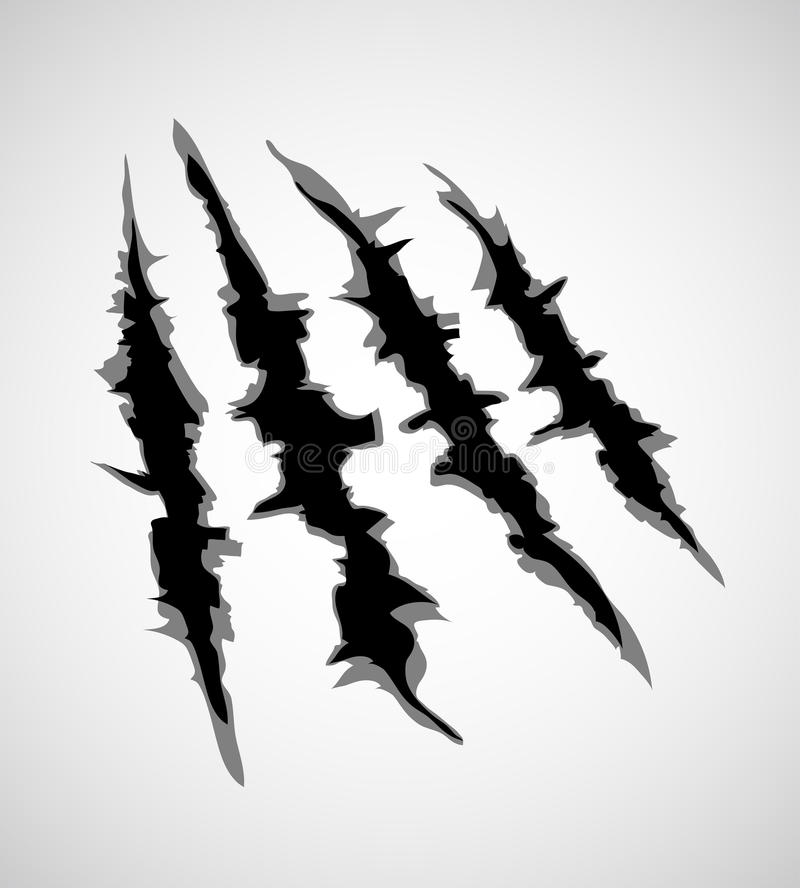 Free Illustration Of Monster Claw Or Hand Scratch , Rip Through White Background. Vector Stock Photo - 94532220