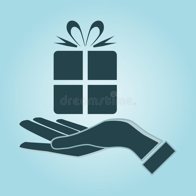 Free Illustration Of Person Giving/receiving Gift Package. Royalty Free Stock Images - 54831139