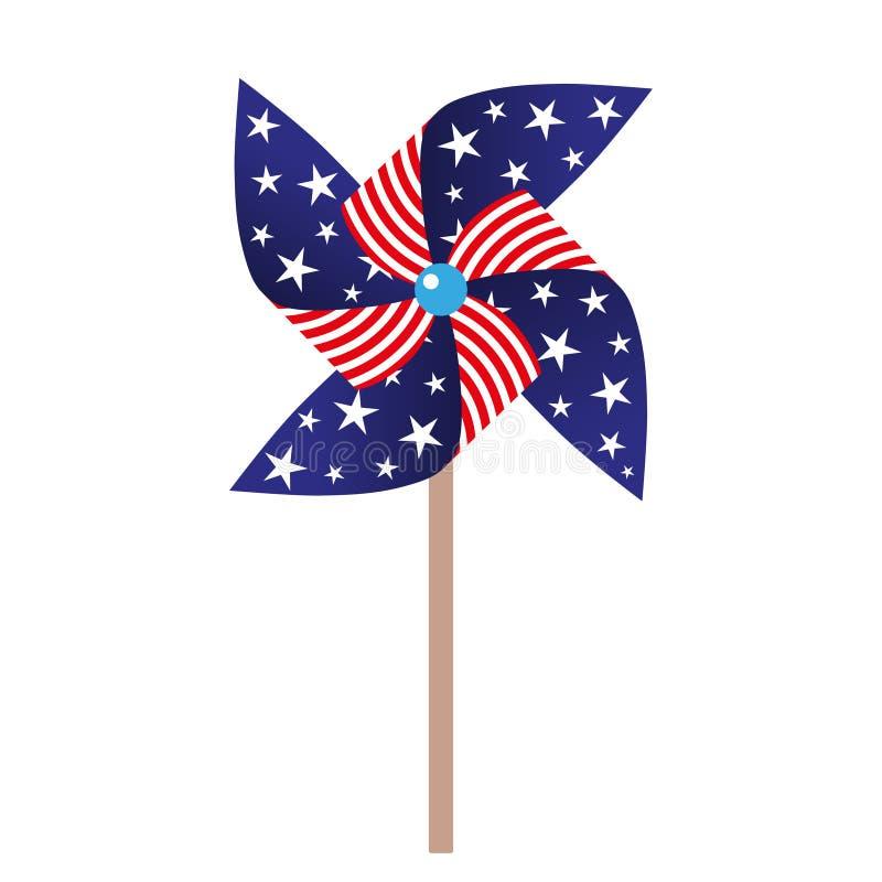 Free Illustration Of Pinwheel With American Symbolics Royalty Free Stock Photos - 95347728