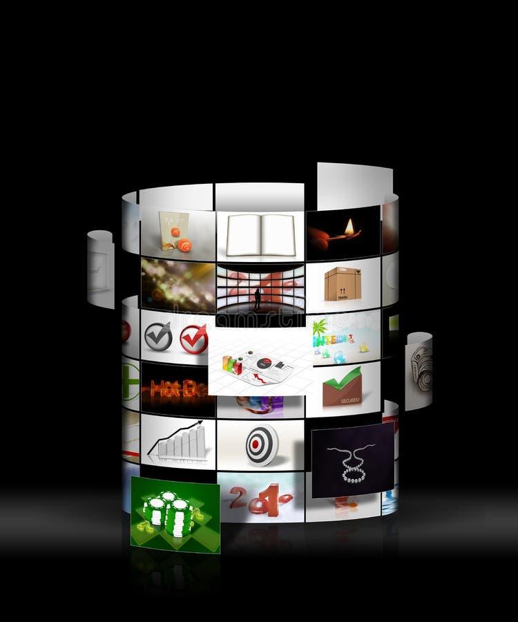 Free Illustration Of Round Photo Wall Stock Image - 14605691