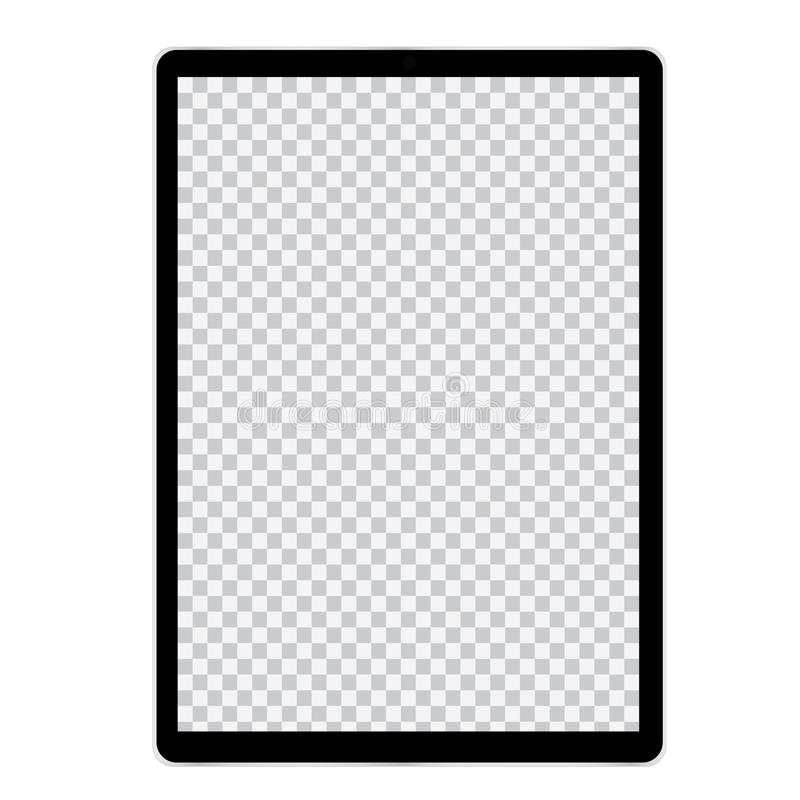 Free Illustration Of Tablet Or Mobile Phone With Blank Screen And Black Frame. With Space For Text, Vector Royalty Free Stock Images - 160833889