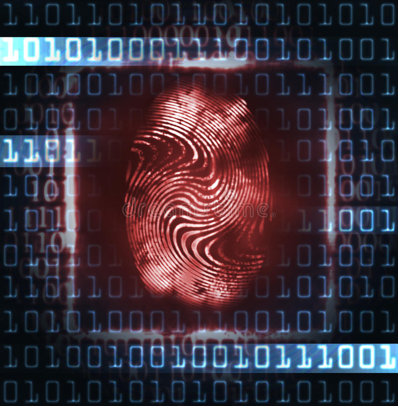 Free Illustration Of The Fingerprint And Digits Royalty Free Stock Photos - 21591478