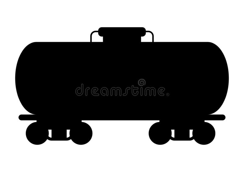 Illustration of oil rail tank. Industrial equipment in flat style royalty free illustration