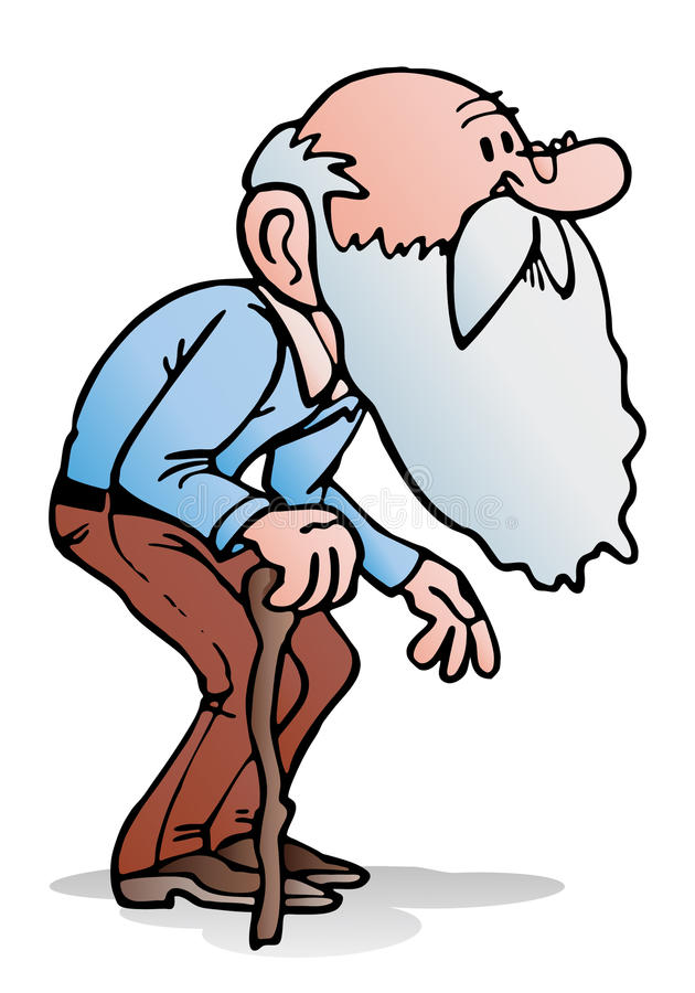Download Old man walking stock illustration. Image of face, happy - 29800311
