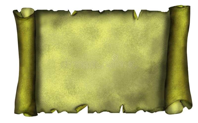 Download Illustration Of Old Scroll Banner In Grunge Style. Stock Illustration - Image: 11106406