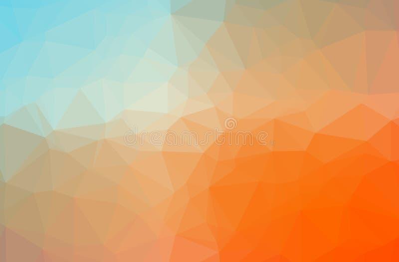 Illustration of orange abstract polygon elegant multicolor background. Illustration of orange abstract polygon elegant multicolor background vector illustration