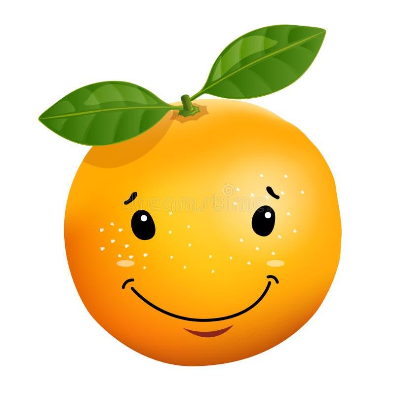 3d stile illustration of orange cartoon character. Vector illustration, isolated on white background vector illustration