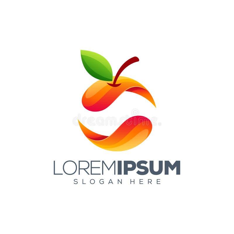 Illustration orange colorée de conception de logo illustration libre de droits
