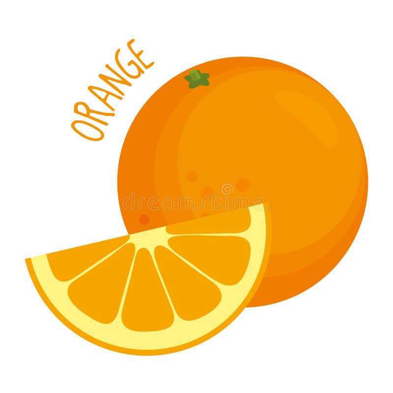 Illustration orange d'isolement illustration libre de droits