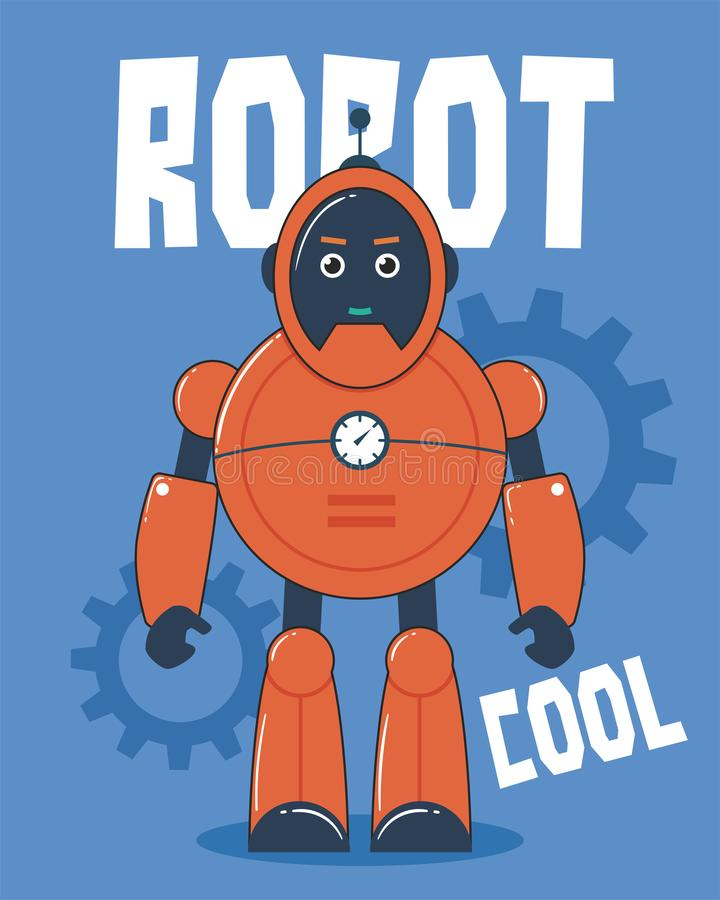 Illustration orange de robot illustration libre de droits