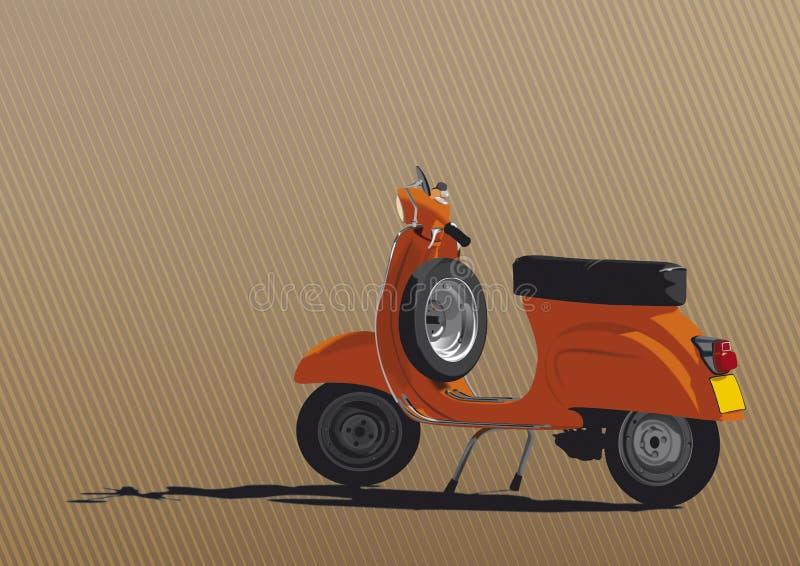 Illustration orange de scooter illustration de vecteur