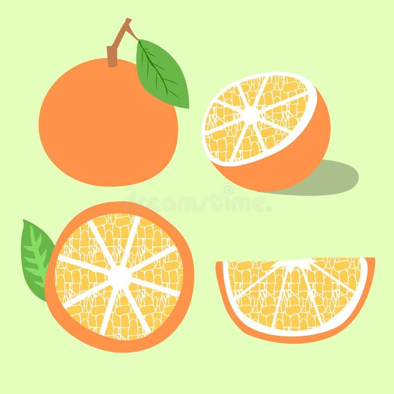 Illustration orange de vecteur de fruit photos stock