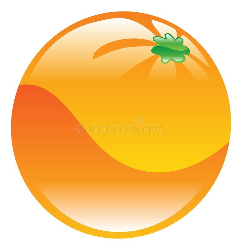 Illustration of orange fruit icon clipart. An illustration of orange fruit icon clipart royalty free illustration