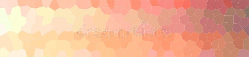 Illustration of orange little hexagon background, abstract banner. Illustration of orange little hexagon background, abstract paint stock illustration