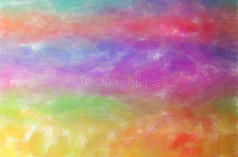 Illustration of orange, purple and blue watercolor horizontal background. Illustration of orange, purple and blue watercolor horizontal background digitally royalty free illustration