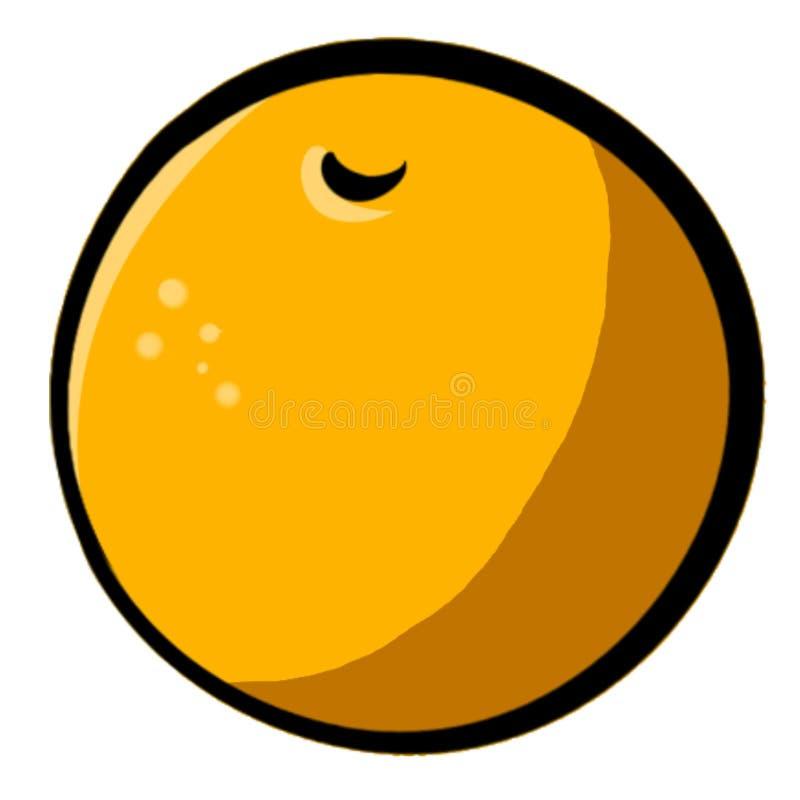 Illustration orange tirée par la main Clipart images libres de droits