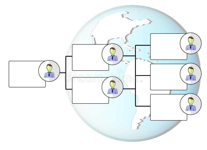 Illustration of organogram stock illustration