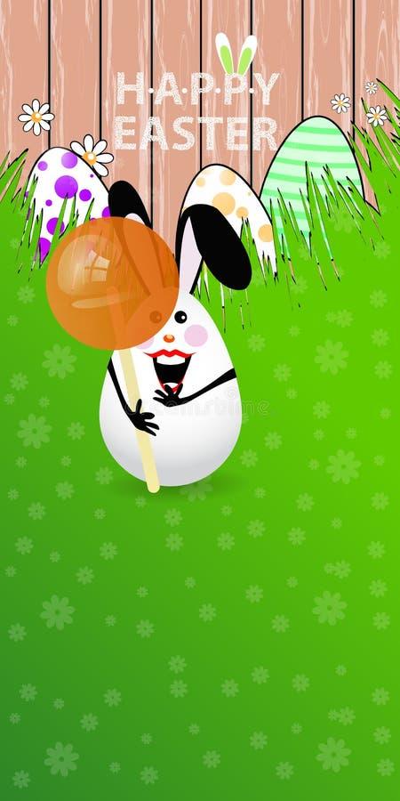 Illustration orientée verticale de Pâques illustration de vecteur