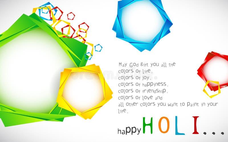 Holi Wallpaper royalty free illustration