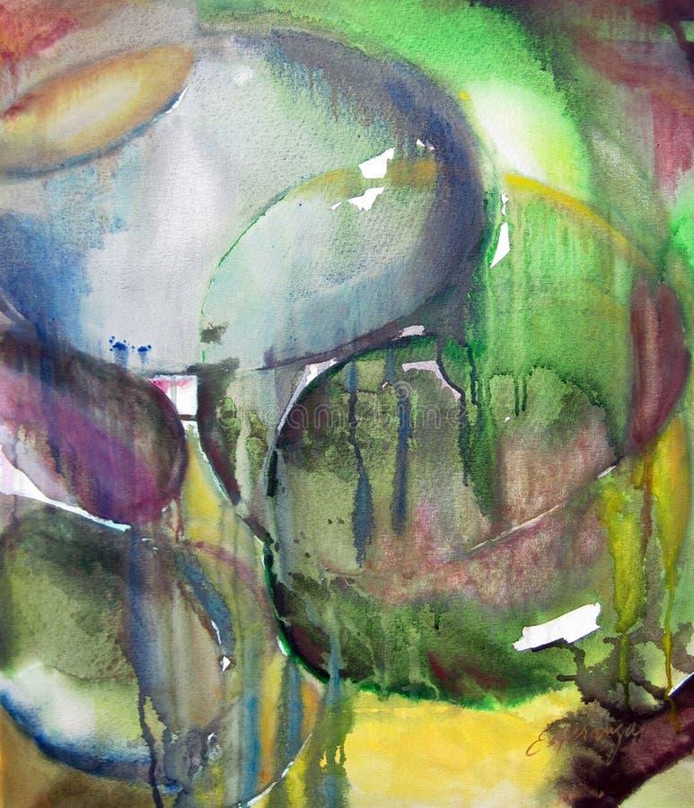 Illustration originale d'abrégé sur peinture oleo illustration de vecteur