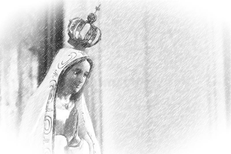 Illustration of Our Lady of Fatima royalty free stock photography
