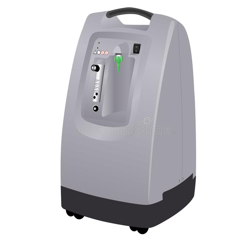 Illustration of an oxygen concentrator. Machine royalty free illustration