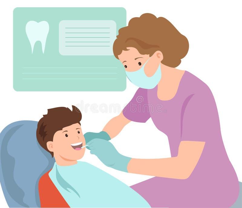 Illustration pédiatrique de Vector de dentiste Docteur photos libres de droits