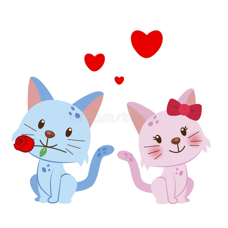 Download Illustration Of A Pair Of Cat Stock Vector - Image: 28552146