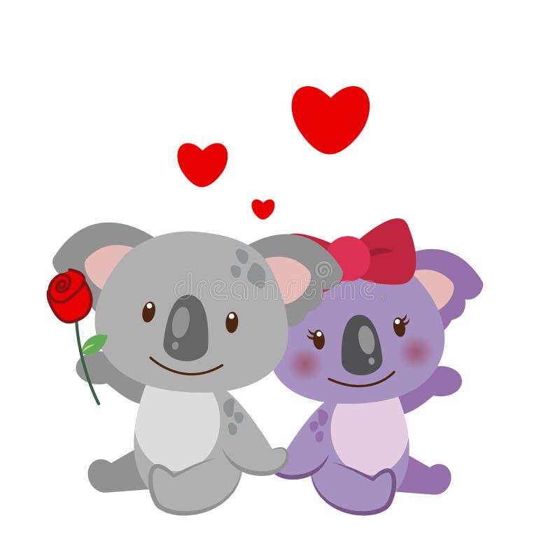 Illustration Of A Pair Of Koala Royalty Free Stock Photography