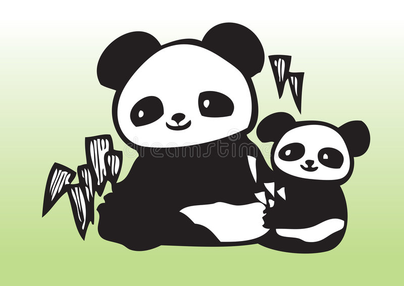 illustration panda 向量例证