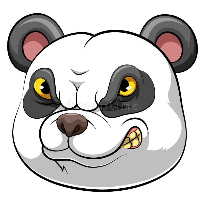 Panda head mascot royalty free stock image