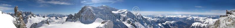 Illustration panoramique de Mont Blanc, Alpes français image libre de droits