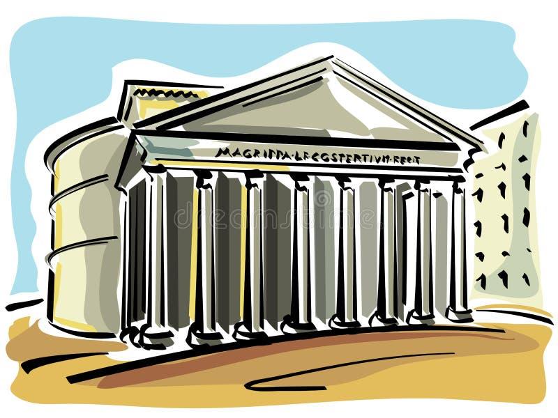 Rome (Pantheon) stock illustration