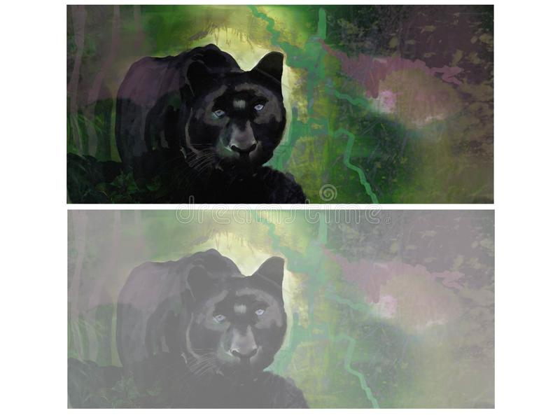 illustration of a panther stock photography