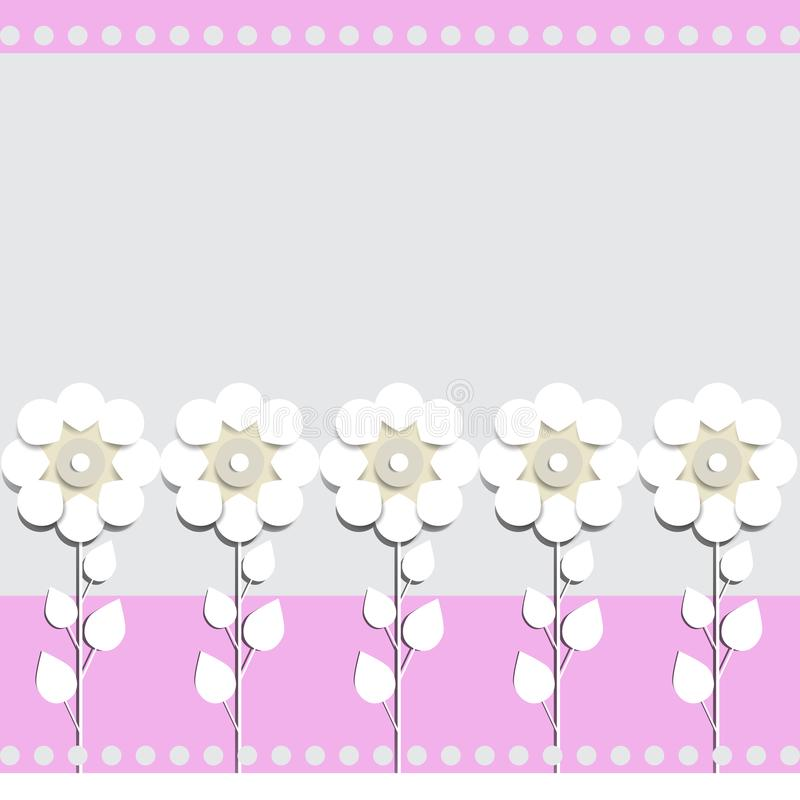 Illustration of paper flowers celebratory background for text placement royalty free illustration