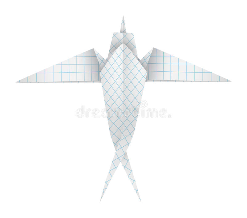 Download Origami swallow stock vector. Image of origami, squared - 30170559