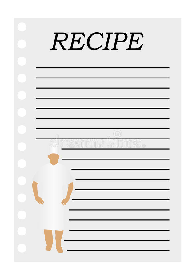 Illustration Of A Paper With Text For A Recipe Stock Photo