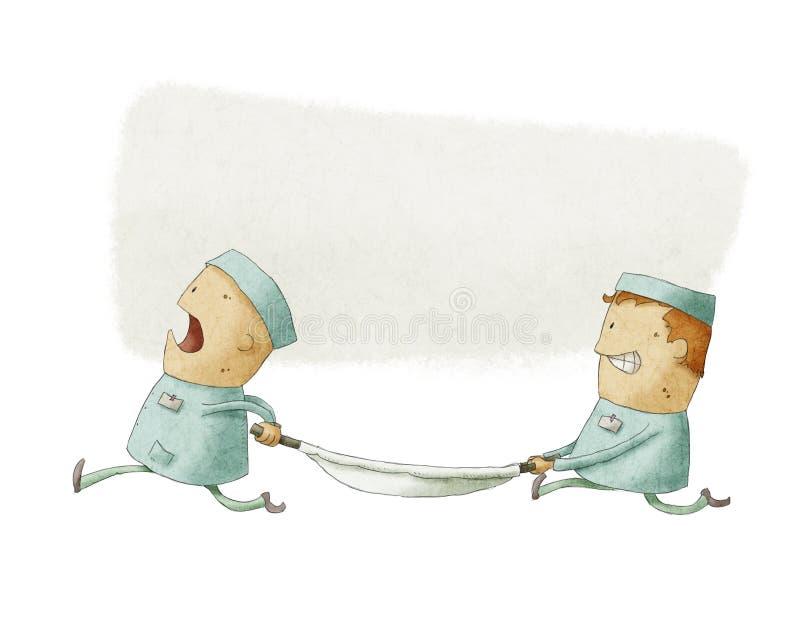 Illustration Of Paramedics At Work Stock Photography