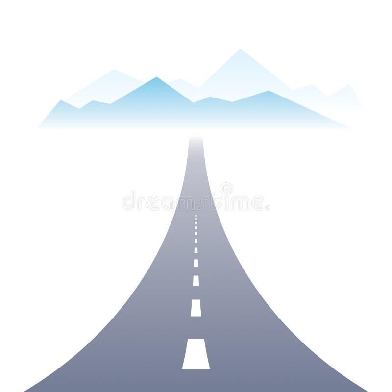 Illustration parfaite de conception de vecteur de route de route de campagne La mani?re ? la nature, les montagnes et le tourisme illustration stock