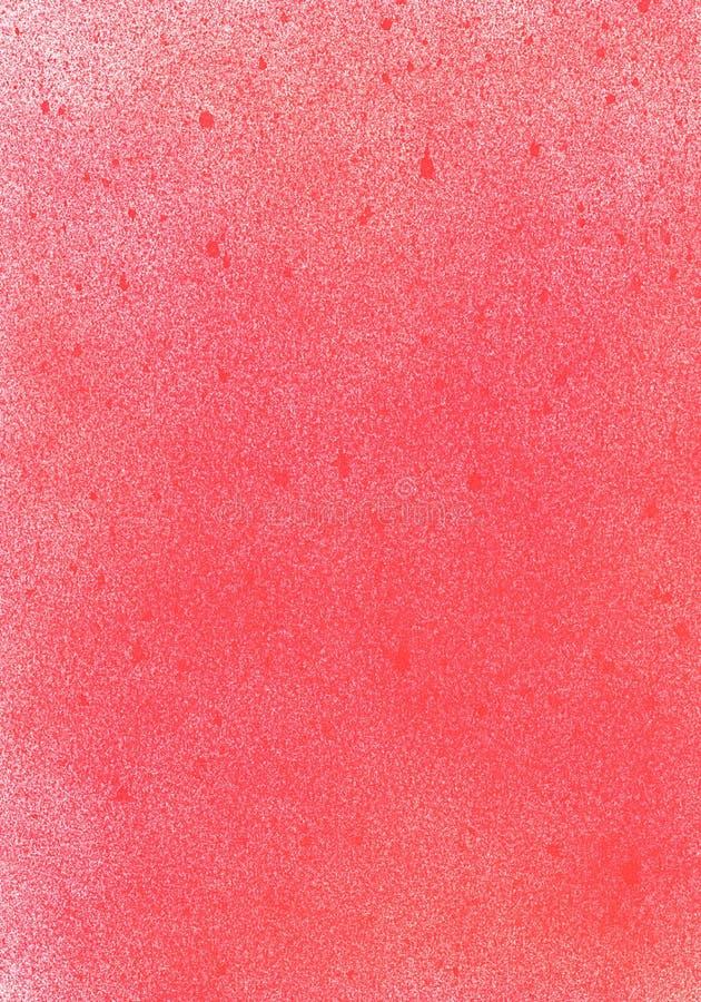 Illustration peinte à la main acrylique de texture d'art de jet de grunge de corail abstrait Mur repéré texturisé de graffiti illustration stock