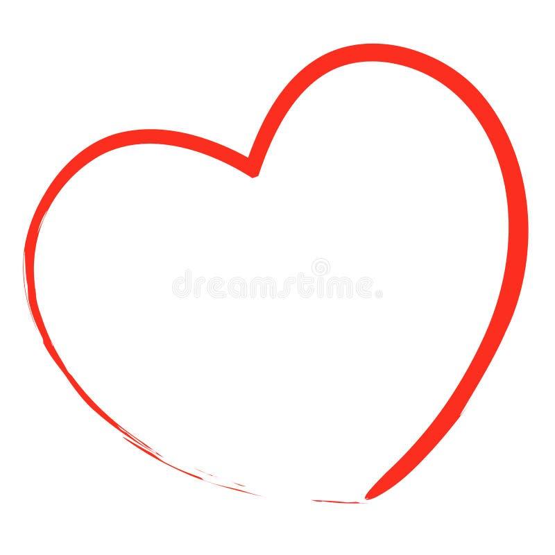 Illustration peinte de coeur illustration de vecteur