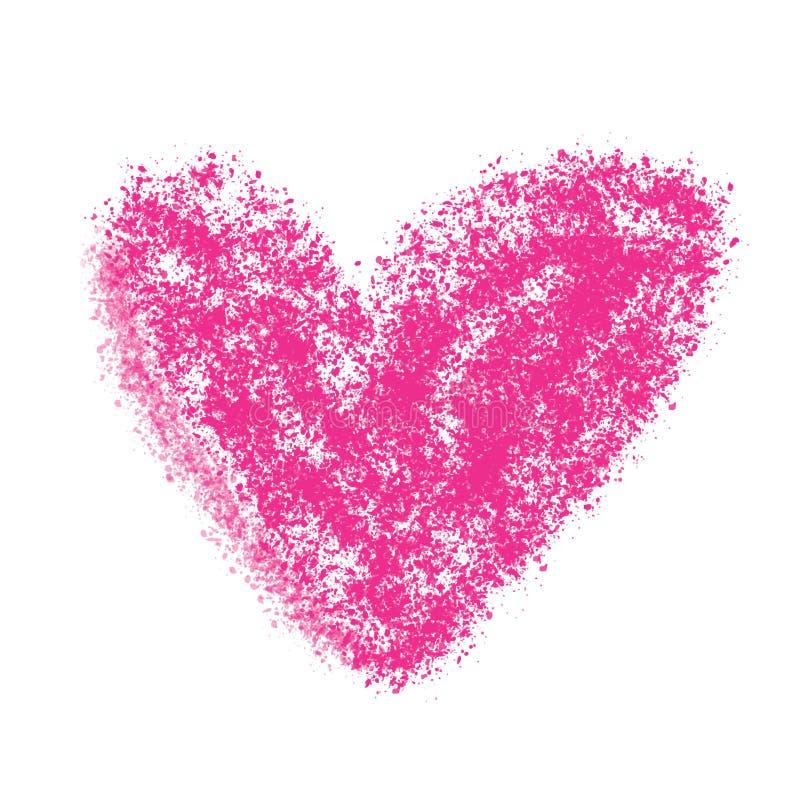 Illustration peinte de vecteur de coeur illustration de vecteur