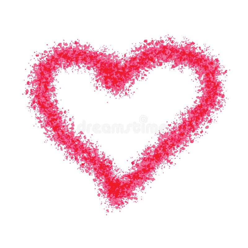 Illustration peinte de vecteur de coeur illustration stock