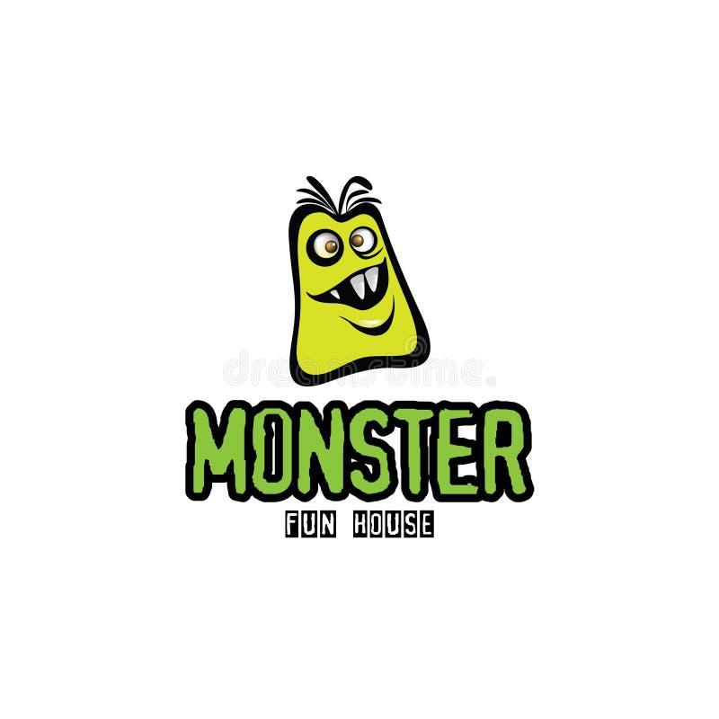 Illustration pelucheuse de monstre dans le format illustration stock